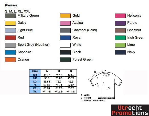 Gildan kleuren