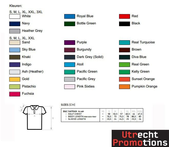 Safran kleuren en measurements